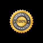 satisfaction label, guarantee label, 100 satisfaction